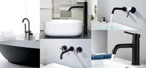 Черная сантехника в интерьере ванной комнаты